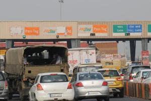 The Kherki Daula toll plaza in Gurgaon.