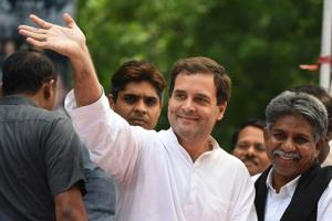 Congress president Rahul Gandhi will hold a road show and address party workers and leaders from all 33 districts at Jaipur's Ramlila ground to boost the party's bid to regain power in the state.