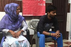 Honour killing victim's mother-in-law Saroj Devi and brother-in-law Dinesh Kumar at their residence in Singhpura village of Rohtak.