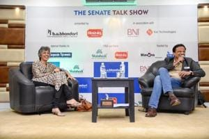 Meher Pudumjee (left), chairperson, Thermax Limited at the Senate talk show on Friday.