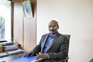 K Sivan, chairman of the Indian Space Research Organisation (ISRO).