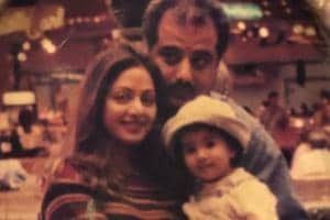 Janhvi Kapoor shared this throwback picture with mom Sridevi and dad Boney Kapoor on Monday.