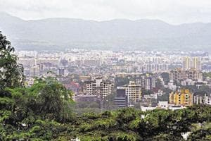 The Ease of living index considered the 'Physical' aspect as one of the four main pillars to be judged. This panoramic view of Pune shows the growth with greenery fighting for space.