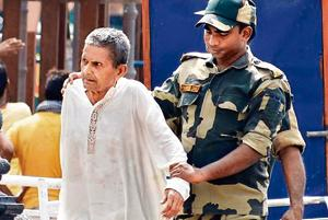 Gajanand crossed Wagah after completing his sentence of 36 years on Monday.