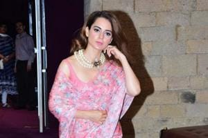 """Kangana Ranaut photographed during """"In Conversation with the Mystic"""" in Mumbai on Aug 8, 2018."""
