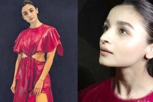 Alia Bhatt's scene-stealing red dress is perfect for a party. Love it. (Instagram)