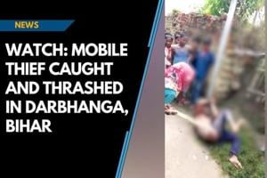 Watch: Mobile thief caught and thrashed in Darbhanga, Bihar
