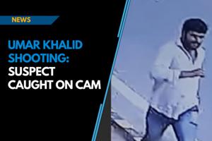 Umar Khalid shooting: Suspect caught on cam