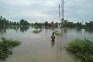 Low-lying areas in Terai areas of Kumaon region experienced heavy water-logging following heavy rain on Monday.