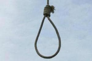 The man was found hanging from a post.
