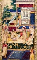 Emperor Jahangir and Prince Khurram (later Shah Jahan) with Nur Jahan, c1624-1625.