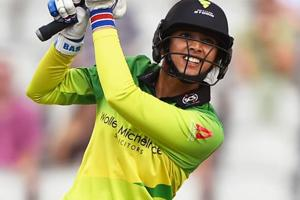 Smriti Mandhana of Western Storm batting during the Kia Super League match against Lancashire Thunder.