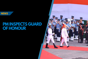 PM Modi inspects Guard of Honour on 72 Independence Day