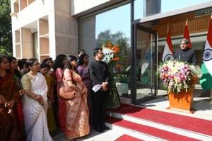 Ambassador Gautam Bambawale speaks at a ceremony in Beijing marking India's Independence Day.