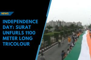 Independence Day: Surat unfurls 1100 meter long tricolour