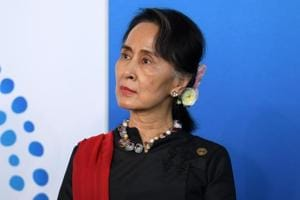 The three serving leaders educated in India are Aung San Suu Kyi of Myanmar (pictured), Bhutan's king Jigme Khesar Namgyel Wangchuk and its Prime Minister Tshering Tobgay.