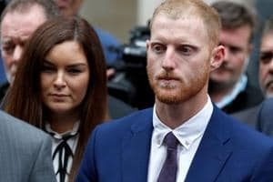 England cricket player Ben Stokes outside Bristol Crown Court in Bristol after his trial.