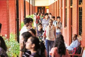 Students at Delhi University. The government plans to pass an ordinance to allow universities to hire faculty following an institution-wide reservation formula.