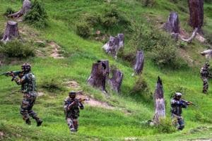 Army personnel in Keran sector of Kupwara district of north Kashmir in June 2018. The Army foiled an infiltration bid along the Line of Control (LoC) in Jammu and Kashmir's Rajouri district on Wednesday, an official said.