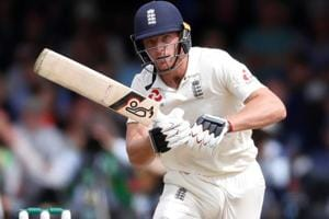 England's Jos Buttler in action during the second Test match against India at Lord's.