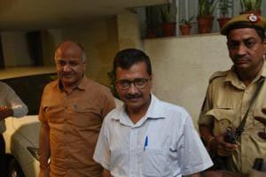 Delhi chief minister Arvind Kejriwal with his deputy Manish Sisodia in New Delhi last month.