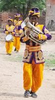 'Young couples today want instrumental music and soothing tunes at their weddings, which we can't play,' says bandmaster Gurucharan Lal Sahu. This means there is little work and incomes are plummeting for the village's 1,200 musicians.