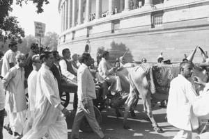 Photos: When Vajpayee arrived in Parliament on a bullock cart, and more
