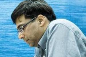 Viswanathan Anand ended the last day scoring four points out of a possible nine.