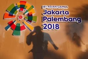 The media center at the Asian Games in Palembang, South Sumatra, Indonesia August 16, 2018.