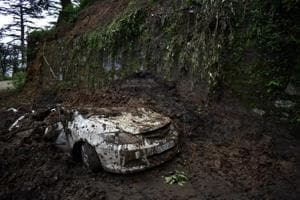 Landslides occurred in various parts of Himachal Pradesh in the last few days following heavy rainfall.