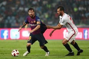 Soccer Football - Spanish Super Cup - Barcelona v Sevilla - Grand Stade de Tanger, Tangier, Morocco - August 12, 2018 Barcelona