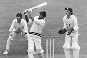 21st August 1971: Left handed Indian cricketer Ajit Laxman Wadekar batting in India