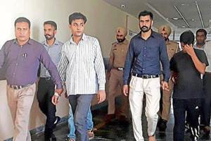 The accused in the custody of Punjab state cyber cell in Mohali.