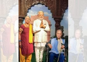 Shoba's parents liked the way the wax version of Prime Minister Narendra Modi was dressed at the Madame Tussauds in Sentosa Island