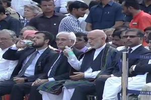 Former Afghan President Hamid Karzai at the funeral of former Prime Minister Atal Bihari Vajpayee.