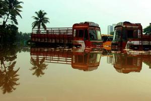 Scenes from flood-hit Kalamassery, Kochi, August 16, 2018