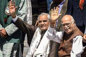 Former prime minister Atal Bihari Vajpayee can be seen with senior BJPleader LK Advani in Ladakh, in this June 07, 2000 photo.
