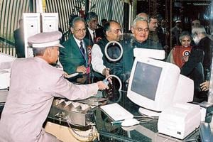 The first section of the Metro between Shahdara and Tis Hazari (now Red Line) was inaugurated by Vajpayee on December 24, 2002.