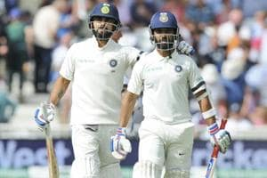 Virat Kohli and Ajinkya Rahane shone with the bat for India as they finished on a solid 307/6 at stumps on the first day of the third Test against England on Saturday.