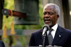 Kofi Annan was the first black African to take up the role of the world's top diplomat, serving two terms from 1997 to 2006.