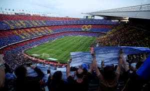 Soccer Football - La Liga Santander - FC Barcelona vs Real Sociedad - Camp Nou, Barcelona, Spain - May 20, 2018 General view before the match