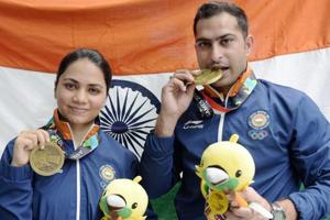 Apurvi Chandela and Ravi Kumar won the bronze medal in the 10m Air Pistol Mixed Team event at Asian Games 2018.