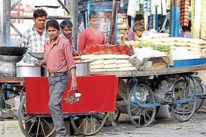 The civic body charges a composition fee for allotting space to street vendors on roadsides.