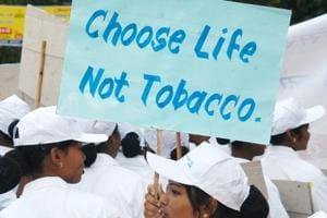 A rally against the use of tobacco in Ranchi.