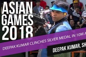 Asian Games 2018: Deepak Kumar clinches Silver medal in 10m air rifle