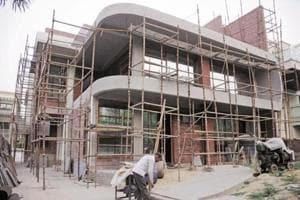 An under-construction flat in Patna.