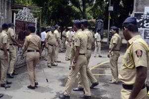 The security was tightened at the Pune district court when CBI produced Sachin Audure, accused in the Narendra Dabholkar murder case, on Sunday.