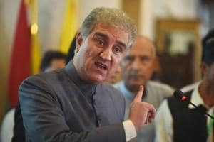 Newly-appointed Pakistani foreign minister Shah Mahmood Qureshi addresses the media on his first day at the foreign ministry in Islamabad on August 20, 2018.