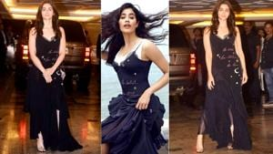 Alia Bhatt is not the only star who loves a whimsical star-print dress. Janhvi Kapoor wore the same Cinq à Sept dress for her first ever magazine photo shoot. (Instagram)