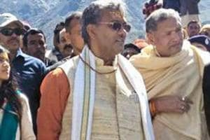 Uttarakhand chief minister TS Rawat's (pictured) ambitious Kandi Road project aims to connect Garhwal and Kumaon regions.
